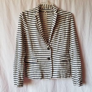 J. Crew striped blazer size small